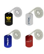 Anondized Colour Dog Tag Keyrings