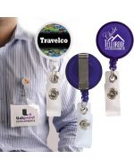 Badge holders with label custom branding