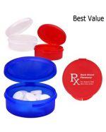 Brandable Round Plastic Pill Case