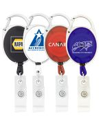 Carabiner Clip Retracting Badge Holder