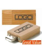 Classic Branded Wooden Flash Memory