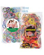 Coloured Rubber bands 500 in Bag