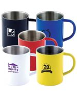 Colourful Steel Double Wall Mugs