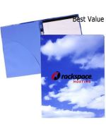 Eco Friendly Padfolio with Printed Clouds