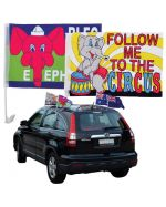 Fan Support Car Flags