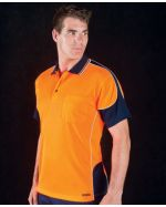 High Vis Piped Branded Polo Shirts