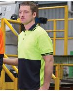 High Vis Piping Logo printed Polo Shirt