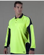 Panel Polo Custom Printed High Vis