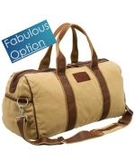 Tolo Logo Branded Canvas Duffle