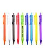 Transparent Plastic Logo Printed Pens